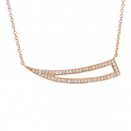 Madison E 0.26ct 14k Rose Gold Diamond Necklace