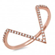 Madison E 0.11ct 14k Rose Gold Diamond Lady