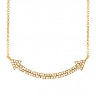 Madison E 0.19ct 14k Yellow Gold Diamond Pave Necklace