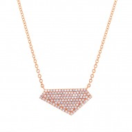 Madison E 0.28ct 14k Rose Gold Diamond Pave Necklace