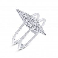Madison E 0.22ct 14k White Gold Diamond Pave Pyramid Ring