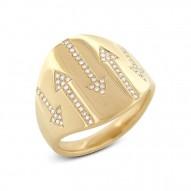 Madison E 0.19ct 14k Yellow Gold Diamond Arrow Ring