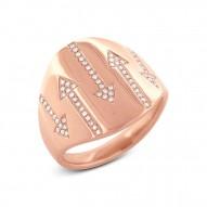 Madison E 0.19ct 14k Rose Gold Diamond Arrow Ring