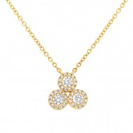 Madison E 0.34ct 14k Yellow Gold Diamond Pendant