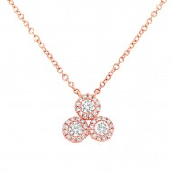 Madison E 0.34ct 14k Rose Gold Diamond Pendant