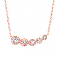 Madison E 0.32ct 14k Rose Gold Diamond Necklace