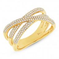 Madison E 0.50ct 14k Yellow Gold Diamond Bridge Ring