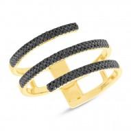Madison E 0.30ct 14k Yellow Gold Black Diamond Lady