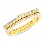 Madison E 0.21ct 14k Yellow Gold Diamond Puzzle Ring 2-pc