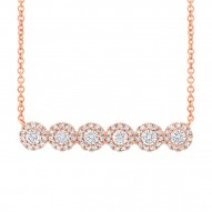Madison E 0.50ct 14k Rose Gold Diamond Bar Necklace