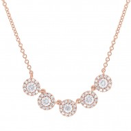 Madison E 0.53ct 14k Rose Gold Diamond Lady