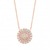 Madison E 0.45ct 14k Rose Gold Diamond Necklace