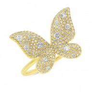Madison E 0.72ct 14k Yellow Gold Diamond Butterfly Lady