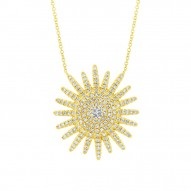 Madison E 0.43ct 14k Yellow Gold Diamond Necklace