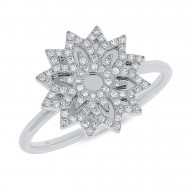 Madison E 0.19ct 14k White Gold Diamond Snowflake Lady