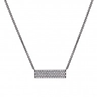 Madison E 0.25ct 14k Black Rhodium Diamond Pave Pendant