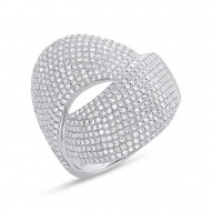 Madison E 1.28ct 14k White Gold Diamond Pave Lady