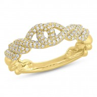 Madison E 0.46ct 14k Yellow Gold Diamond Pave Lady