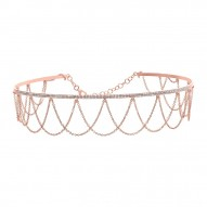 Madison E 0.74ct 14k Rose Gold Diamond Choker Necklace