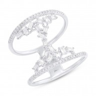 Madison E 0.55ct 14k White Gold Diamond Baguette Lady