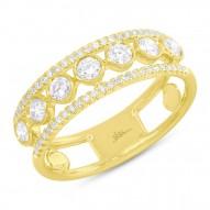 Madison E 0.62ct 14k Yellow Gold Diamond Bezel Lady