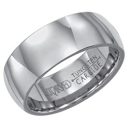 Tungsten Carbide 8mm Comfort Fit Conquest Wedding Band Size 10