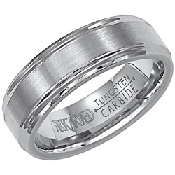 Tungsten Carbide 6mm Comfort Fit Exquisite Wedding Band