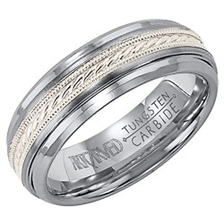 Gents 7mm Comfort Fit Mayson Tungsten Carbide Wedding Band