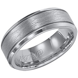 Tungsten Carbide 7.5mm Gents Curtis Wedding Band