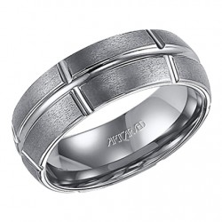 Tungsten Carbide 8mm Comfort Fit Bolton Wedding Band
