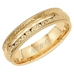 14k Yellow Gold 5mm Serenity High Polish Wedding Band