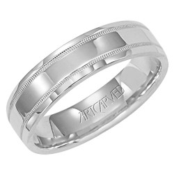 14k White Gold 5.5mm Perfection High Polish Wedding Band