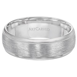 14k White Gold 8mm Comfort Fit Courtland Wedding Band
