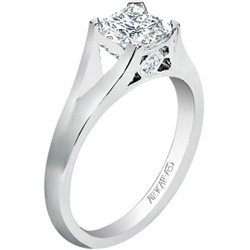 14k White Gold Tally Semi Mount Engagement Ring