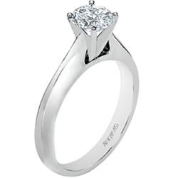 14k White Gold Pixie Knifes Edge Design High Polish Solitaire Mounting