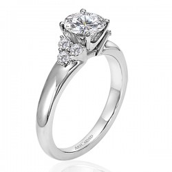 14k White Gold Jewel Semi Mount Engagement Ring