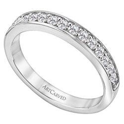 14k White Gold Prong Set Natalia Matching Diamond Wedding Band