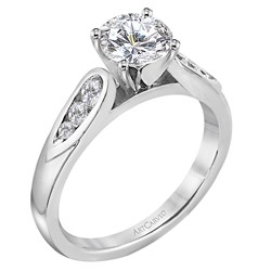 14k White Gold Cecilia Classic Semi Mount Ring