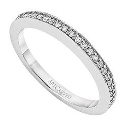 14k White Gold Nadia Shared Prong Matching Diamond Wedding Band