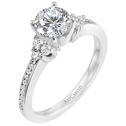14k White Gold Kayla Semi Mount Ring