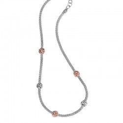 Sterling Silver Necklace With Balls 18Kp Micron Plating