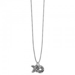 "Sterling Silver ""Xo"" Small Pendant Set Engraved ""Hugs & Kisses"" 14Mm 1.2Mm 21"" Adjustable Slider Chain 160"