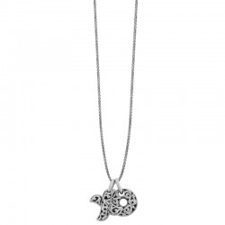 "Sterling Silver ""Xo"" Large Pendant Engraved ""Hugs& Kisses"" 19Mm 1.5Mm 32"" Adjustable Slider Chain"