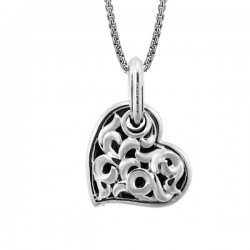 Sterling Silver Large Love Heart Pendant 19Mm ( Charm