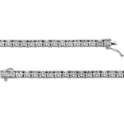 "Sterling Silver 1/4 CTW Diamond Line 7.5"" Bracelet"