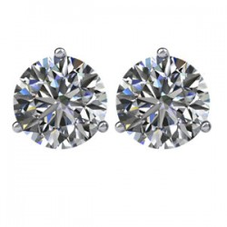 14kt White 2 CTW Diamond Threaded Post Earrings