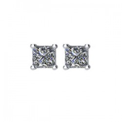 14kt White 1/3CTW Diamond Earrings