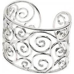 Sterling Silver 3/8 CTW Diamond Cuff Bracelet
