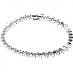 "14kt White 1 1/2 CTW Diamond Line 7.25"" Bracelet"