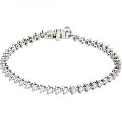 "14kt White 5 CTW Diamond Line 7.25"" Bracelet"